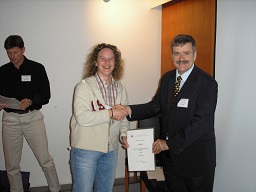 Fiona with certificate, Helsinki 05