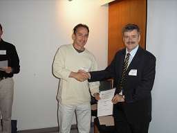 Guido with certificate, Helsinki 05